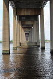 Under Mathews Bridge Royaltyfri Foto