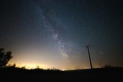 Under Milky Way. Field under Milky Way galaxy Royalty Free Stock Photo