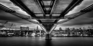Under Millenium Bridge Stock Photography