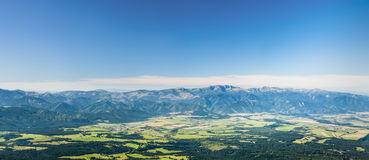 Under mountains panorama Stock Photography