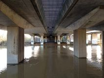 Under the A45. Northampton underpass A45 dirty Royalty Free Stock Photo