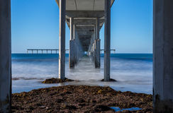 Under the Ocean Beach Pier Stock Photos