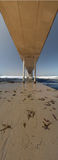 Under the Ocean Beach pier Panoramic California. This taken in ocean beach california...looks stunning blown up Royalty Free Stock Photography
