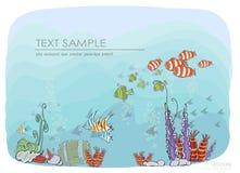Under the ocean Stock Image