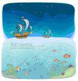 Under the ocean Royalty Free Stock Images