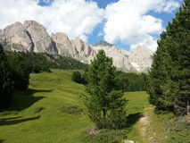 Under the Odle group, Dolomiti mountains Stock Image