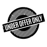 Under Offer Only rubber stamp. Grunge design with dust scratches. Effects can be easily removed for a clean, crisp look. Color is easily changed royalty free stock image