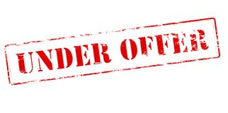 Under offer. Rubber stamp with text under offer inside,  illustration Royalty Free Stock Photography