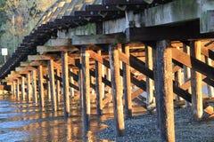 Under the old trestle bridge Stock Photos