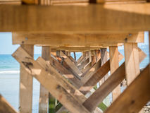 Under the old wooden bridge Royalty Free Stock Photos