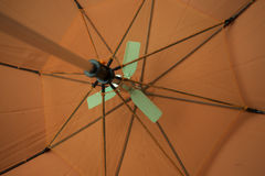 Under A Orange Umbrella Royalty Free Stock Images