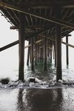 Photo under the pier in Los Angeles royalty free stock photography