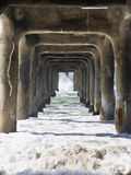 Under the Pier Stock Photo