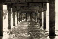 Under the pier Stock Images