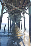 Under the pier at the beach Royalty Free Stock Image
