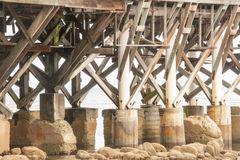Under the Pier Royalty Free Stock Images