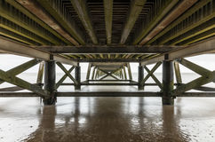 Under the Pier of Saint Jean de Monts Vendee, France Royalty Free Stock Photo