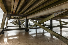 Under the Pier of Saint Jean de Monts Vendee, France Royalty Free Stock Photography