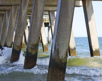 Under the Pier Stock Photo