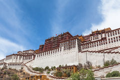 Under the Potala Palace Royalty Free Stock Photos