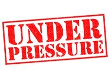 UNDER PRESSURE Stock Image