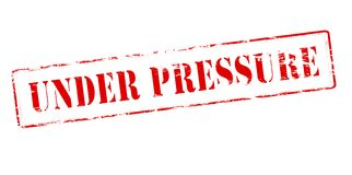 Under pressure. Rubber stamp with text under pressure inside,  illustration Royalty Free Stock Photography
