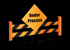 Under process board. Illustration of under process background Royalty Free Stock Photo