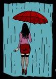 Under the rain Royalty Free Stock Image
