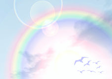 Under the rainbow Stock Photo
