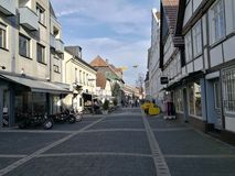 Under the Recklinghausen Town`s Sun Stock Images