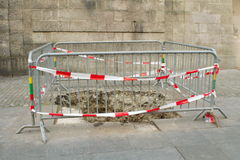 Under reconstruction pavement zone Stock Photos