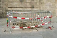 Under reconstruction pavement zone Stock Photos