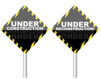 Under Reconstruction Sign Stock Image
