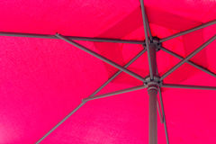 Under red umbrella Royalty Free Stock Photography