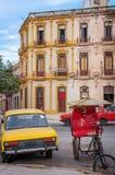 Under renovation in Old Havana, Cuba. stock images