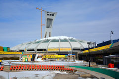 Under repair the Montreal Olympic Stadium  tower Royalty Free Stock Photography