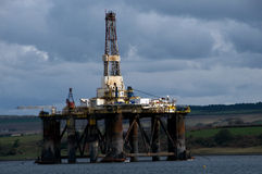 Free Under Repair Oil Rig, On The Moray Firth,near Ivergordon, Ross-shire, Scotland, UK. Stock Photography - 14118512
