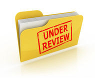 Under review folder icon Royalty Free Stock Photos