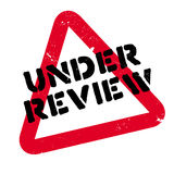 Under Review rubber stamp Royalty Free Stock Images