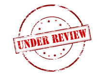 Under review Stock Photography