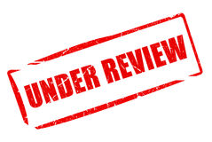 Under review stamp Royalty Free Stock Photos