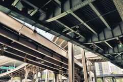 Under the road intersection. Royalty Free Stock Images