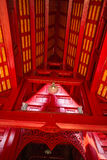 Under roof structure of chapel of Thai temple Royalty Free Stock Images