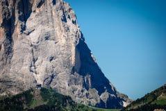 Under Sassolungo, Dolomiti. Detail of the base of Sassolungo, view from Passo Gardena Royalty Free Stock Photos