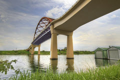 Under the Sauvie Island Bridge Stock Image
