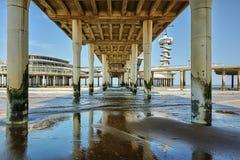 Under the Scheveningen pier overlooking the North Sea Stock Images
