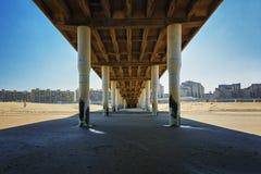 Under the Scheveningen pier overlooking the North Sea Royalty Free Stock Image
