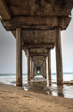 Under the Scripps pier in La Jolla Royalty Free Stock Photography
