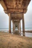 Under the Scripps pier in La Jolla Stock Photography