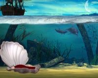 Under the sea. Mermid under the sea royalty free illustration